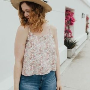 Carly Jean Los Angeles Floral Tess Tank